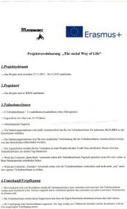 Projektvereinbarung 1